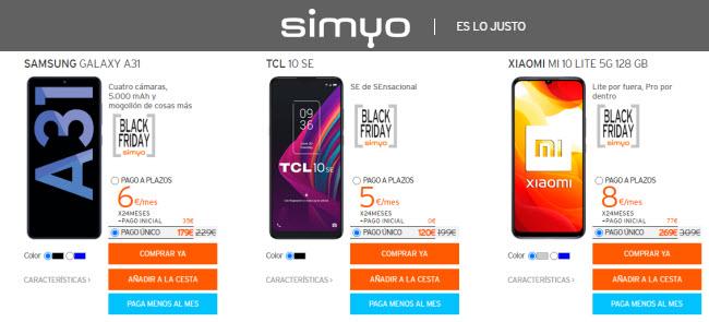 Black Friday Simyo móviles