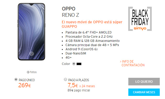 black friday oppo reno z