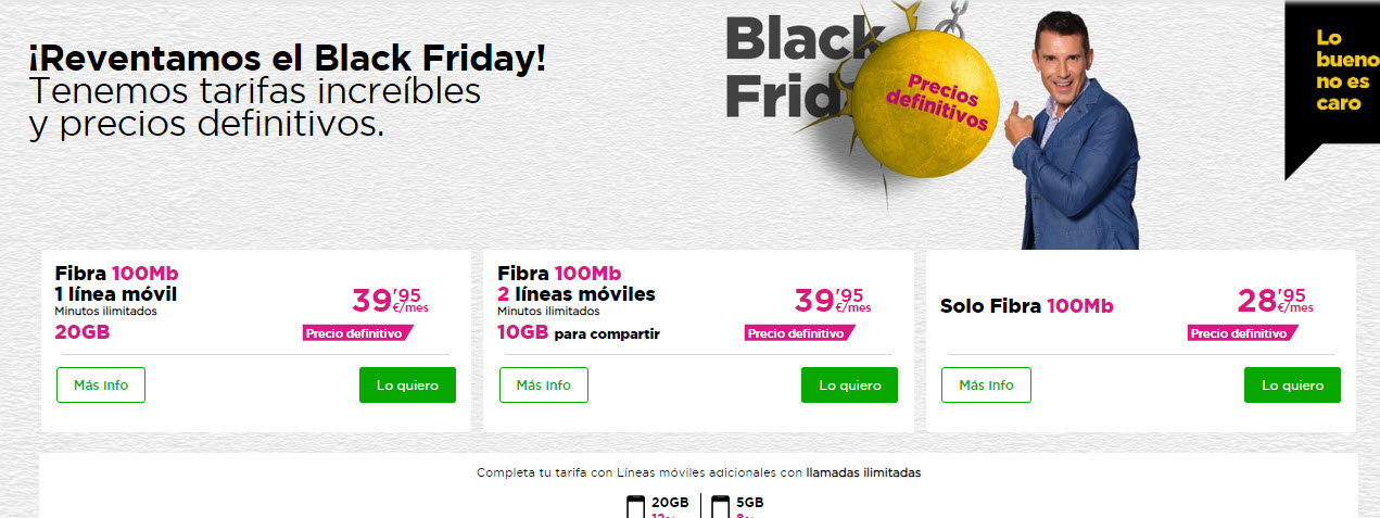 black friday jazztel fibra