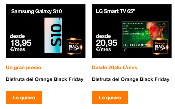 orange black friday moviles