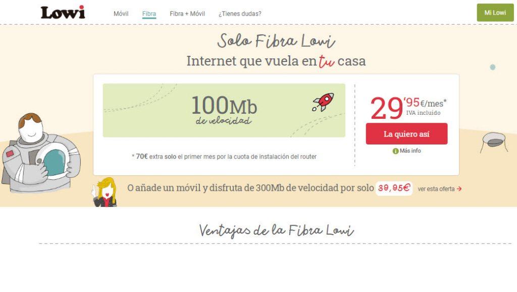 mejores tarifas fibra
