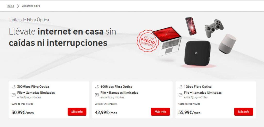 mejores tarifas fibra España