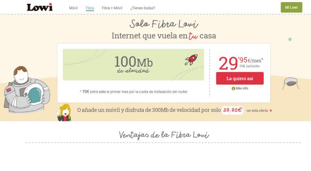 mejores tarifas internet España